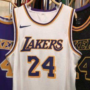 Men's Lakers#8 Kobe Bryant Jersey Embossing White